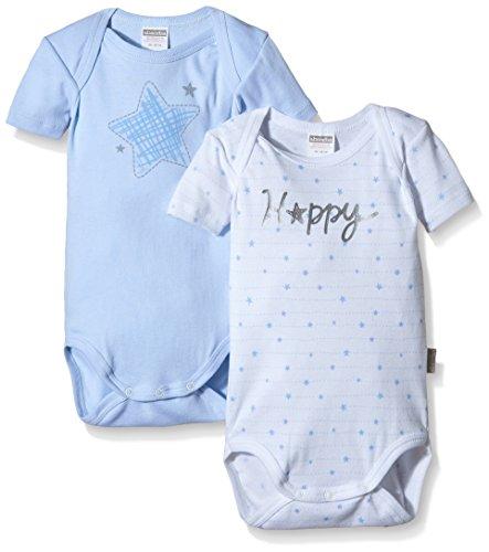 Absorba Underwear Happy Body, Blau (Cristal 41), 80 cm (Pack de 2) para Bebés