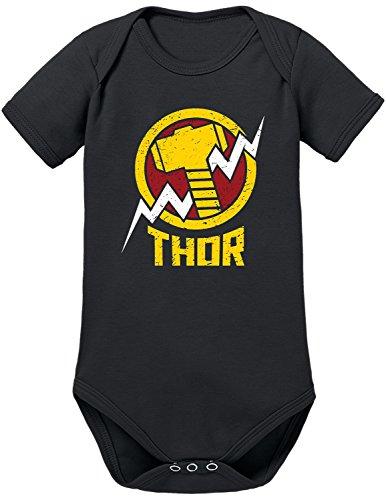 TShirt-People Body para bebé de Los Vengadores Thor negro 18-24 Meses