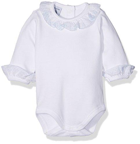 babidu BODY CUELLO BATISTA, Body para Bebé-Niños, Celeste, 12 meses