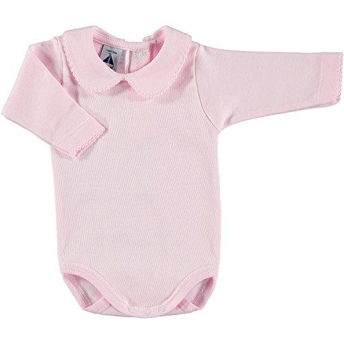 BABIDU Body Cuello Algodon, Rosa, 24 Meses Bebe-Unisex