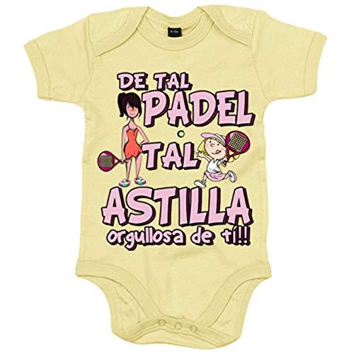 Body bebé madre y niña de tal padel tal astilla orgullosa de ti - Amarillo, Talla única 12 meses