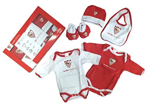 Sevilla CF Baby Set SFC - Conjunto de Ropa Unisex Bebé (Pack de 5) Multicolor (Rojo/Blanco) 0-3...