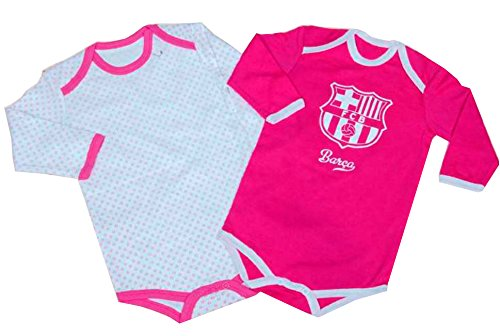 PACK 2 BODYS FC.BARCELONA TALLA 24 MESES
