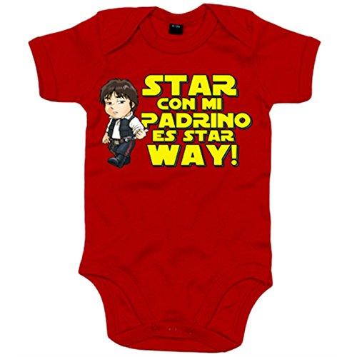 Body bebé parodia cazarrecompensas de las galaxias estar con mi padrino es star way - Rojo, Talla...