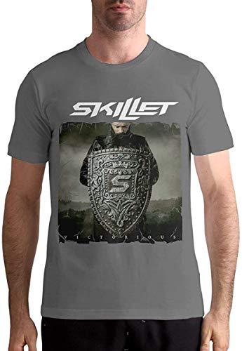 Tengyuntong Camisetas y Tops Hombre Polos y Camisas, Skillet Band Shirt Camiseta de Moda para Hombre...