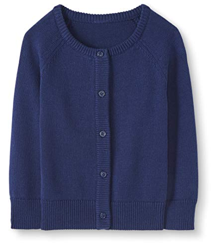 Moon and Back Baby Toddler Cardigan Sweater Infant-and Sweaters, Azul Marino, 6-12 Meses