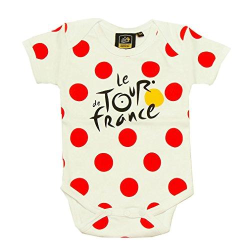 Le Tour de France Unisex-Baby 'Diseño de lunares' Body - Blanco -