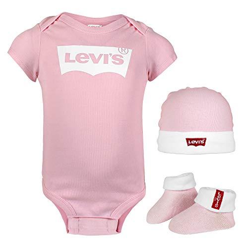 Levi's Kids CLASSIC BATWING INFANT HAT, BODYSUIT, BOOTIE SET 3PC 0019 Conjunto de canastilla para...