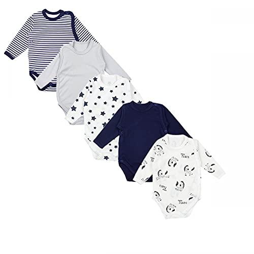 TupTam Body para Bebé de Manga Larga, Pack de 5, Niño 5, 56