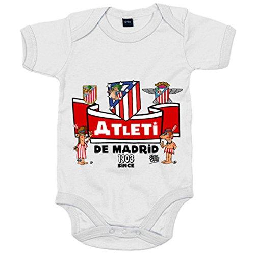 Body bebé Atlético de Madrid desde 1903 colchonero - Blanco, 6-12 meses