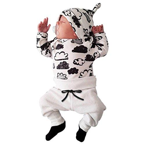 Switchali Ropa Bebe Nino Recien Nacido otoño Impresión de la Nube Blusa Bebe niña Manga Larga...