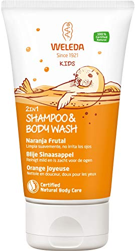 WELEDA 2 en 1 Champú y Gel de Ducha Naranja Frutal (1x 150 ml)
