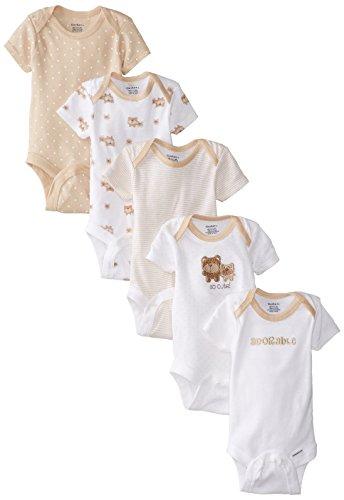 Gerber Baby Girls 5-Pack Variedad Monos Monos - marr�n - 0-3 meses
