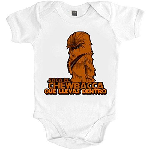 Body bebé parodia saca el Chewbacca que llevas dentro - Blanco, 6-12 meses