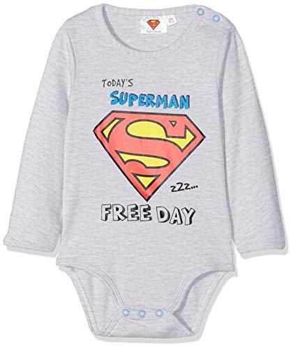Superman 2538 Body, Gris (Gris Gris), 2 años (Talla del fabricante: 24 meses) para Bebés