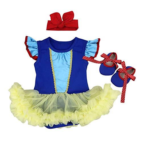 OBEEII Ropa de Mamelucos para Halloween Vestido Blancanieve Tutu Princesa para Bautizo Carnaval...