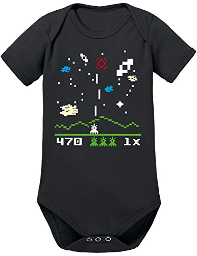 TShirt-People Astro Invaders - Body para bebé Negro 80