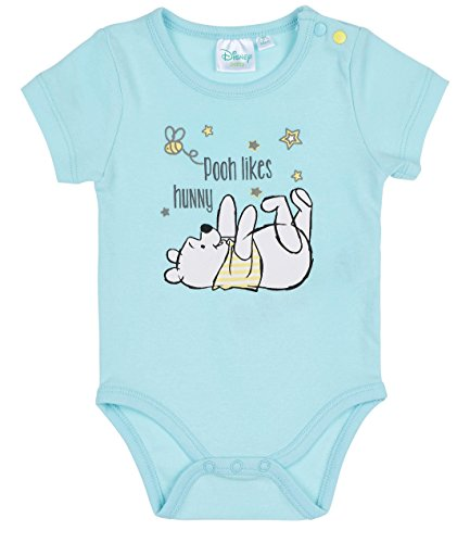 Disney Winnie the Pooh Babies Boys Body bebé - Turqueza - 18M