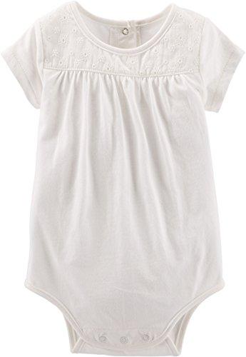 OSHKOSH B'gosh Body bajo peto, para bebé, jugador de verano, blusa para niña (0-24 meses) Blanco...