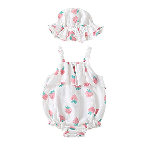 Luckycat Body Infantil para bebés recién Nacidos con Volantes Mamelucos sin Mangas Mono Trajes...