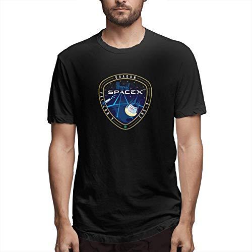Tengyuntong Camisetas y Tops Hombre Polos y Camisas, Camisetas de algodón Spacex de la NASA para...