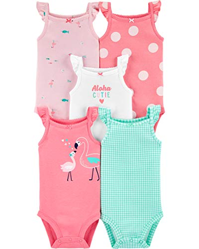Carter's Baby Girls 5-Pack Body 126g330 - Multi - 9 meses