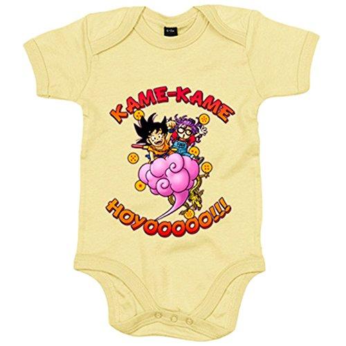 Body bebé parodia de Goku y Arale - Amarillo, 12-18 meses