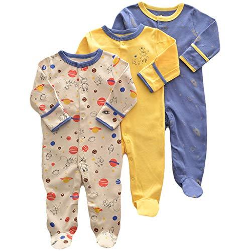 Bebé Niños Niñas Mono Mameluco de Manga Larga Body Algodón Peleles Comodo Pijama Regalo de...