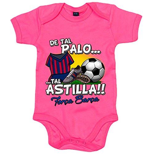 Body bebé De tal palo tal astilla Barcelona fútbol - Rosa, 6-12 meses