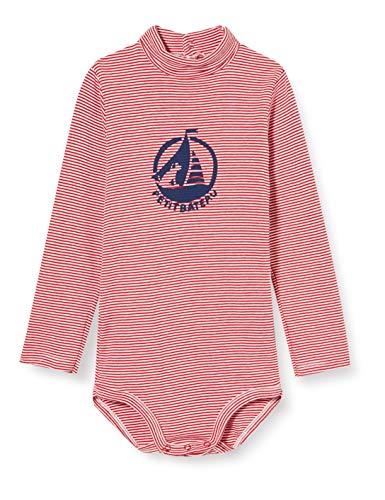Petit Bateau 5699901 Conjunto de Ropa Interior para bebés y niños pequeños, Rojo/Blanco, 36 Meses