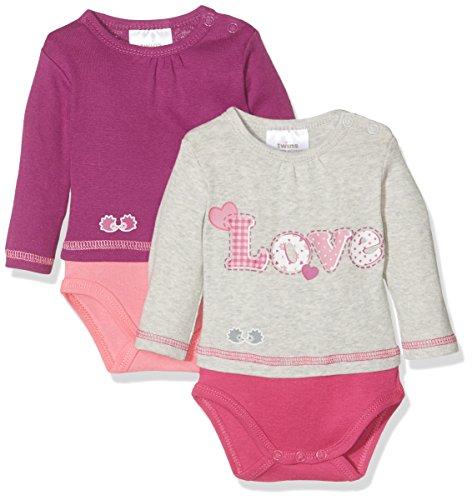 Twins Body Love Bebé, pack de 2 Rosa (pink 3501) 6-9 meses (Talla del fabricante: 74)