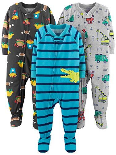 Simple Joys by Carter's pijama de poliéster suelto para bebés y niños pequeños, paquete de 3...