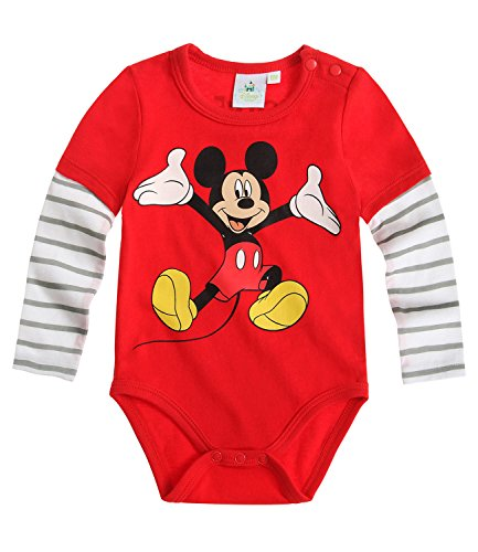 Disney Mickey Babies Body bebé - Rojo - 18M