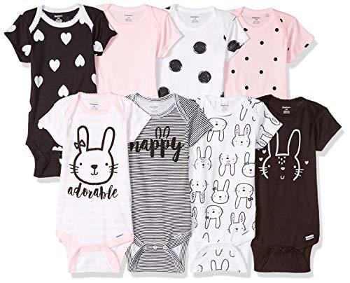 Gerber Baby Girls' 8-Pack Short-Sleeve Onesies Bodysuit