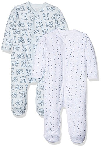 Care Pijama para Bebé Niño, Pack de 2 Blau (Light blue 700) 6 meses (Talla del fabricante: 68)