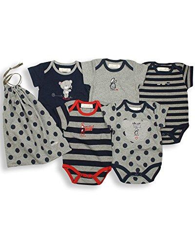 The Essential One - Paquete de 5 Body para bebé Azul Marino ESS16