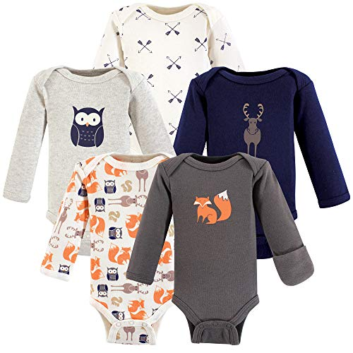 Hudson Baby Baby Boys' Preemie Bodysuit, 5 Pack