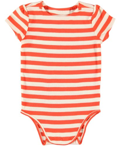 OshKosh B'Gosh Striped Knit Bodysuit (Baby) - Tangerine-6 Months