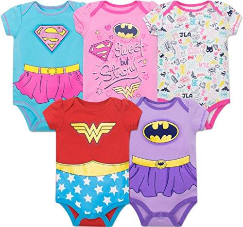 DC Comics Body con Las Superheroínas de la Justice League - Wonder Woman, Batgirl y Supergirl para...