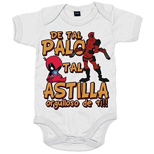 Body bebé parodia superhéroe malote rojo de tal palo tal astilla orgulloso de ti - Blanco, 6-12...