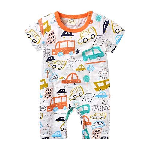 Ropa Bebe Niño Pijama Corto Mamelucos Verano Disfraz Coche Pelele Camiseta Mono Recien Nacido Body...