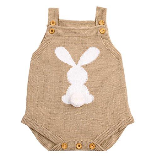 Vestido de niña BBsmileRecién Nacido bebé niño niña Weave Romper Knitted Trajes de Mono Ropa...