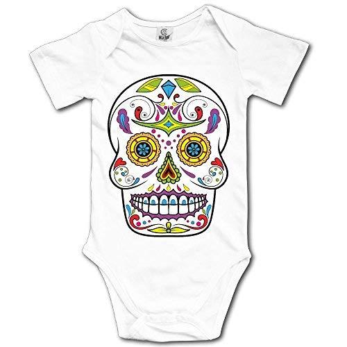 Sugar Skull Newborn Girl Boy Romper Jumpsuit Body Trajes de bebé Ropa Infantil