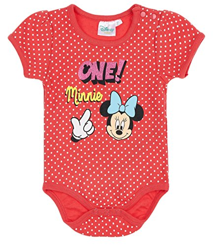 Disney Minnie Babies Girls Body bebé - Rojo - 18M
