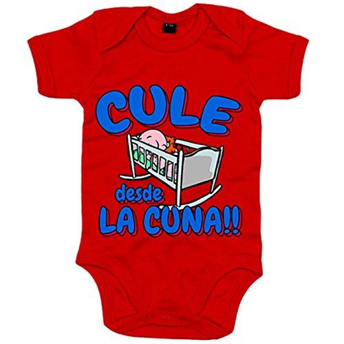Body bebé Culé desde la cuna Barcelona fútbol - Rojo, 6-12 meses