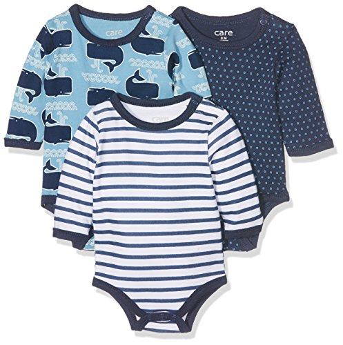 Care Body Bebé-Niños pack de 3, Multicolor (Deep Skye Blue), 56 cm