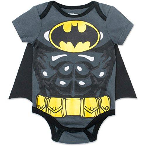 Warner Bros. - Body con Capa de Batman para Bebé Niño Pequeño Gris