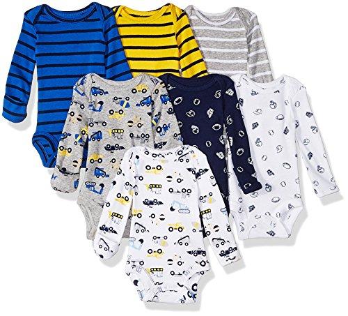 Carter's - Body de manga larga para bebé, 7 unidades -  Multi -  6 meses