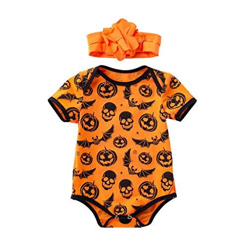 Moneycom❤ Body infantil Toddler para bebé, niñas, niños, Halloween, calabaza, calavera,...
