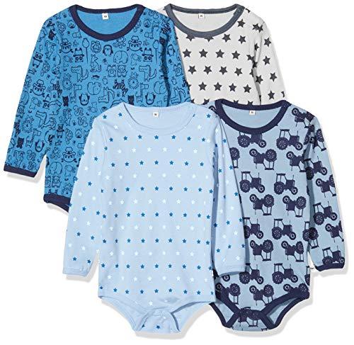 Pippi 3819725104 - Body de manga larga (4 unidades), para niños, con estampado, edad: 3-4 años,...